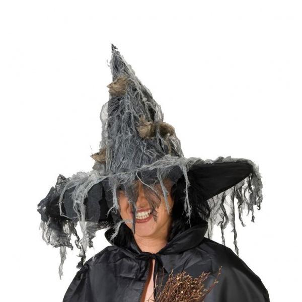 Čarodějnický klobouk - šedá dekorace 4c0f8c9174